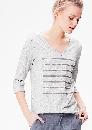 Shirt mit gummiertem Wording