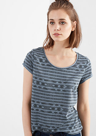 Shirt mit Minimalmuster