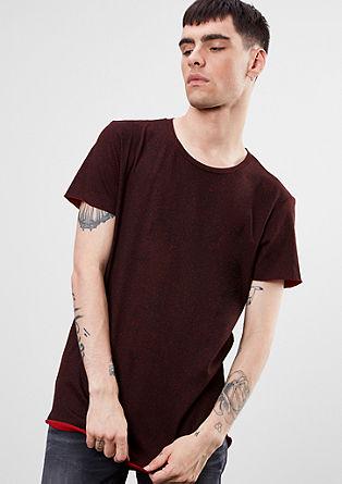 Shirt mit offenen Kanten