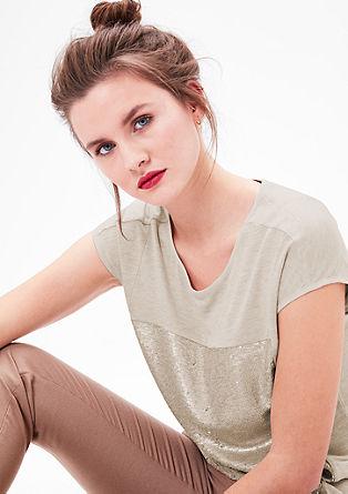 Shirt mit Pailletten-Front