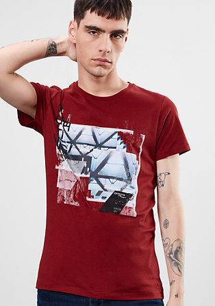 Shirt mit Print-Collage