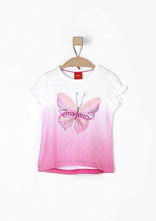 Shirt mit Schmetterlings-Applikation