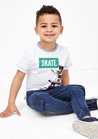 Shirt mit Skater-Print
