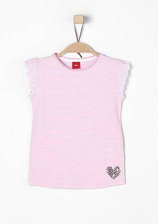 Shirt mit Stitchings und Pailletten