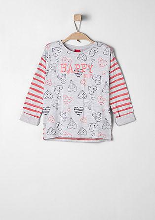 Shirt mit Streifen und Herzen