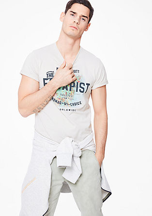Shirt mit Urlaubs-Print