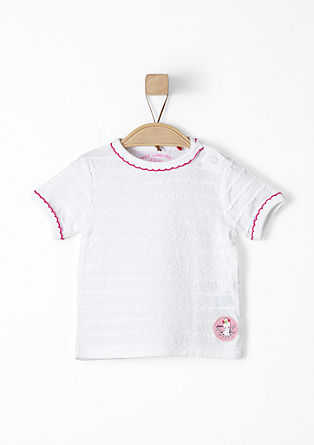 Shirt mit Webmuster