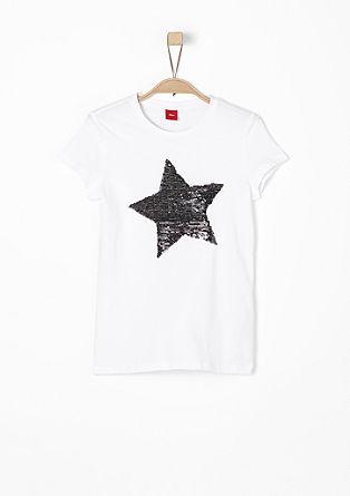 Shirt mit Wendepailletten-Stern