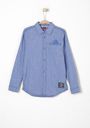 Shirt with a distinctive woven texture from s.Oliver