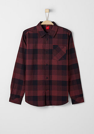Shirt with a large check pattern from s.Oliver