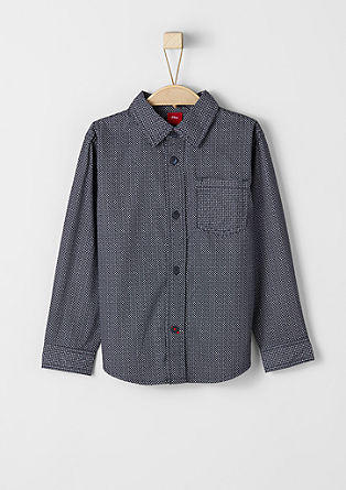 Shirt with a minimal pattern from s.Oliver