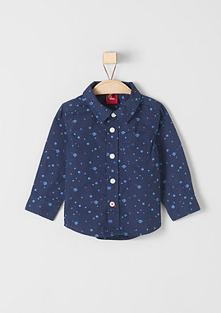 Shirt with a space print from s.Oliver