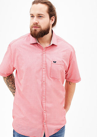 shirt with a woven texture from s.Oliver