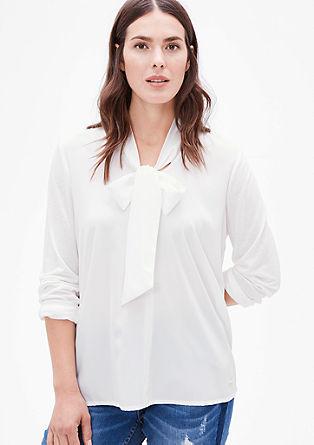 Shirtbluse mit Schluppe