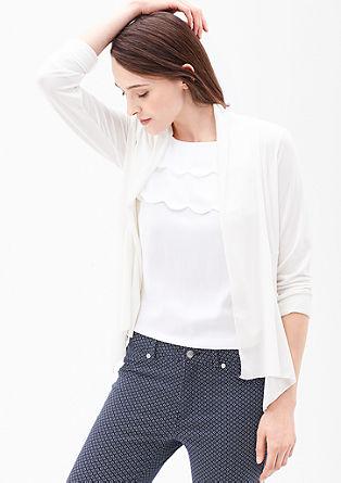 Shirtjacke mit Crêpe-Optik