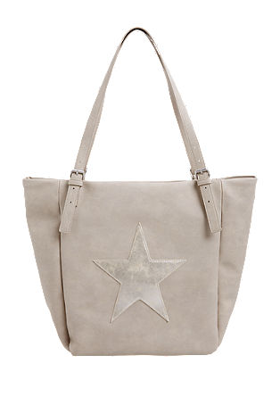 Shopper bag with a star appliqué from s.Oliver