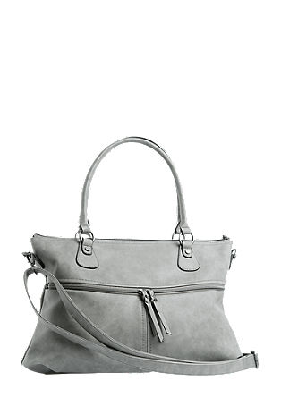 Shopper with front zips from s.Oliver