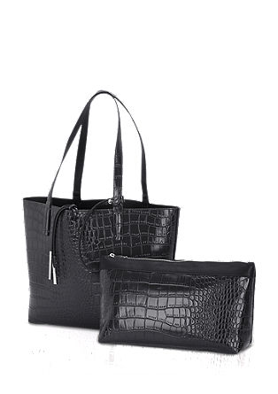 Shopper with reptile embossing from s.Oliver