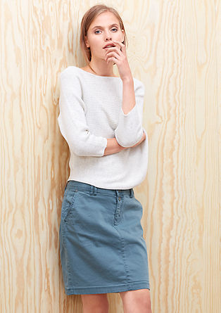 Short, coloured denim skirt from s.Oliver