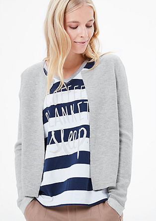 Short, double-faced cardigan from s.Oliver