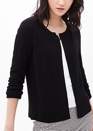 Short, textured cardigan from s.Oliver