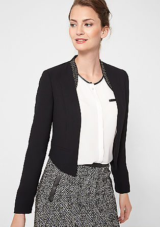 Short blazer with a decorative collar from s.Oliver