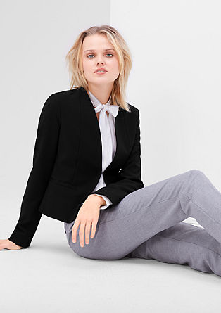 Short blazer with shiny piping from s.Oliver