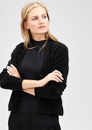 Short chenille cardigan from s.Oliver