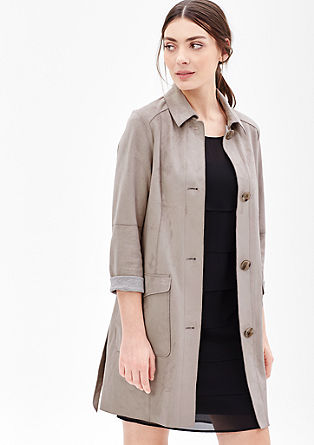 Short coat in faux suede from s.Oliver