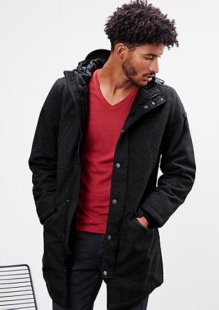 Short coat with a hood from s.Oliver