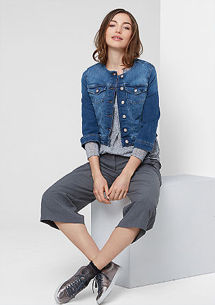 Short denim jacket with a button placket from s.Oliver