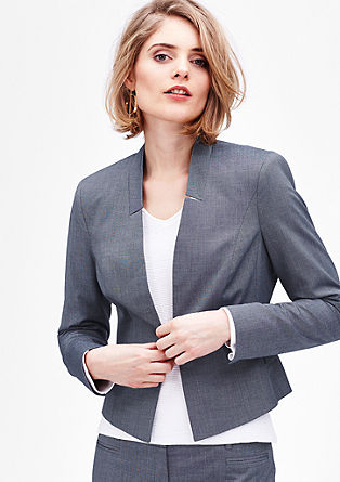 Short end-on-end blazer from s.Oliver