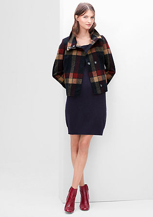 Short jacket in blended wool from s.Oliver