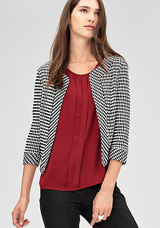 Short jacquard blazer from s.Oliver