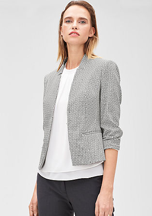 Short jacquard blazer in a slim fit from s.Oliver
