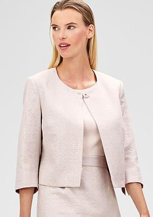 Short jacquard jacket from s.Oliver
