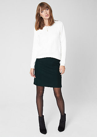 Short new wool skirt from s.Oliver