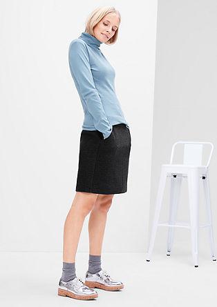 Short skirt in blended wool from s.Oliver