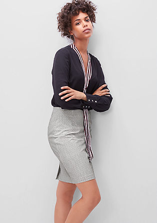 Short skirt with a trendy pattern from s.Oliver