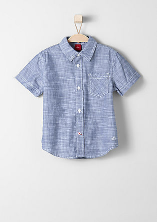 Short sleeve shirt with woven stripes from s.Oliver