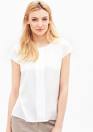 Short sleeve top with satin details from s.Oliver
