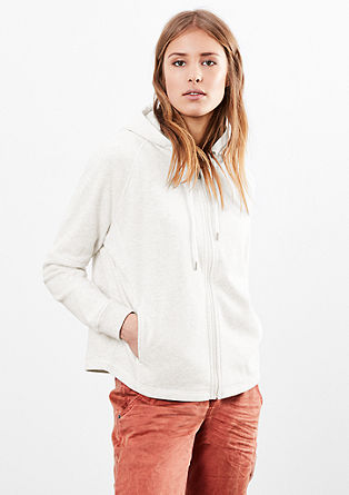Short sweatshirt jacket in a boxy shape from s.Oliver