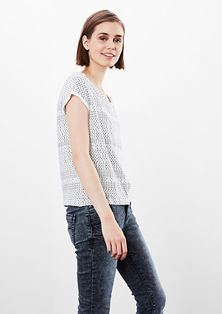 Short T-shirt with an all-over print from s.Oliver