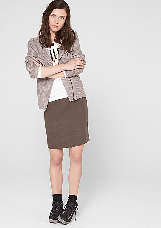Short twill skirt from s.Oliver