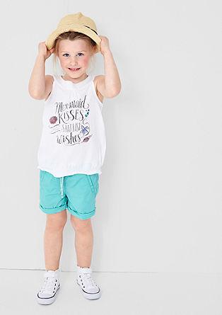 Shorts mit Glitzer-Details
