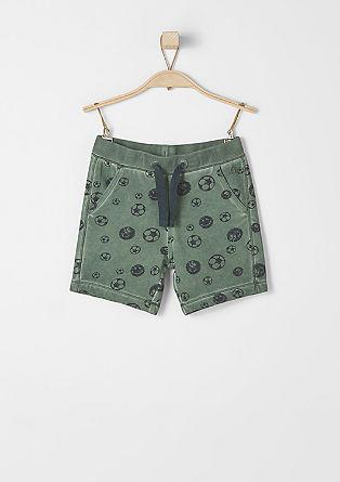 Shorts mit Soccer-Print
