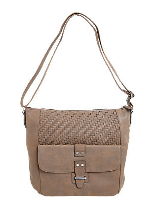 Shoulder Bag mit Flechtmuster