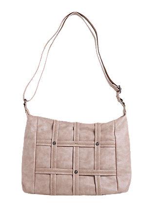 Shoulder Bag mit Gitter-Deko