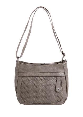 Shoulder Bag mit Netz-Optik