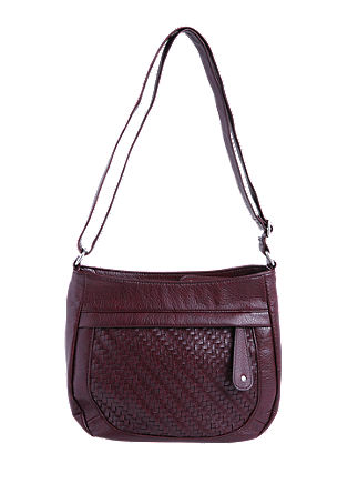 Shoulder Bag mit Netz-Optik